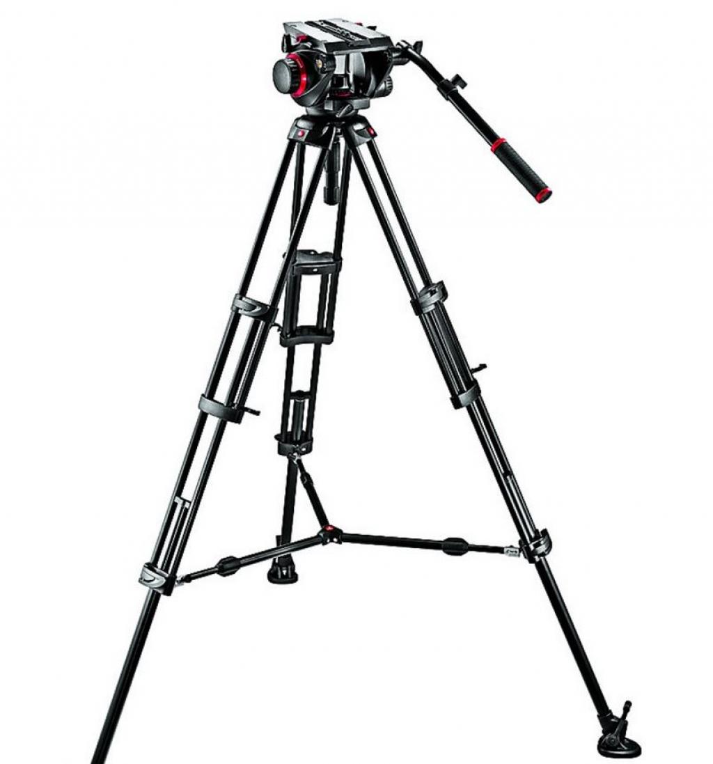 kamera på kamerastativ